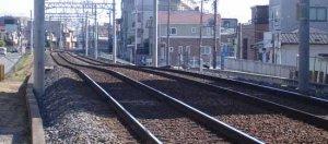 線路の落ち込み