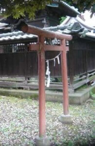 三峯神社 木製赤鳥居