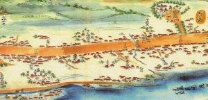 松戸宿の分間延絵図